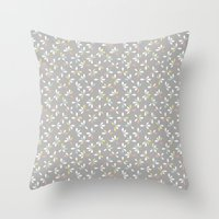 loves me loves me not pattern - pastel Throw Pillow