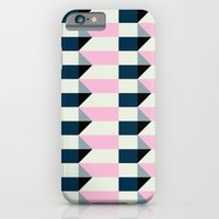iPhone & iPod Case featuring Crispijn Pink & Blue by Stoflab