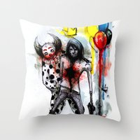 Clown Fun Throw Pillow