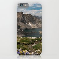 Alpine Lakes, Wildflowers and Mountains in the Wyoming Wilderness iPhone 6 Slim Case