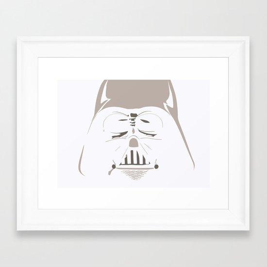 Ghost Darth Vader Framed Art Print