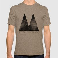 Twin Peaks, WA Mens Fitted Tee Tri-Coffee SMALL