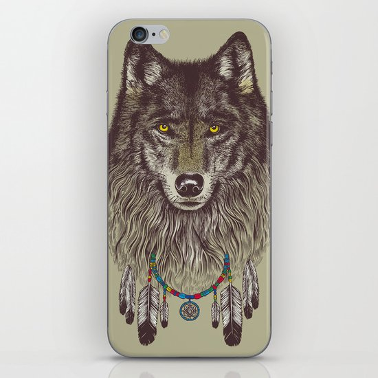 Wind Catcher Wolf iPhone & iPod Skin