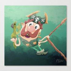 Barry the Buccaneer & his moody mate Cuckachoo Canvas Print