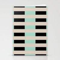 Tan Black Mint Checkerbo… Stationery Cards