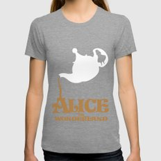 Alice in Wonderland Womens Fitted Tee Tri-Grey SMALL