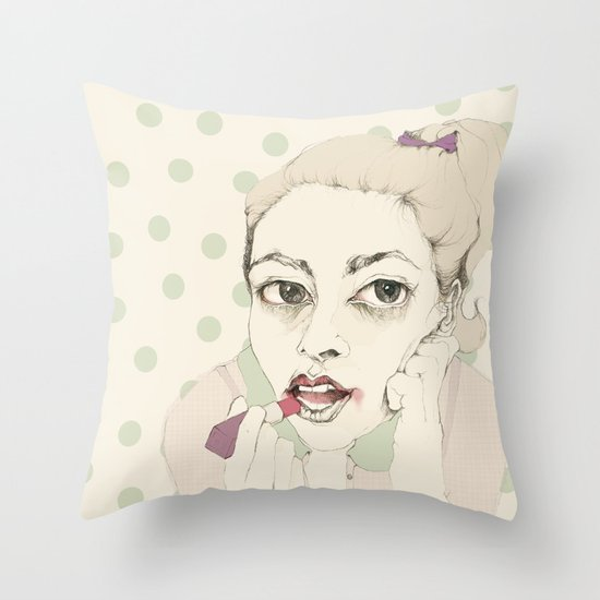 lipstick Throw Pillow