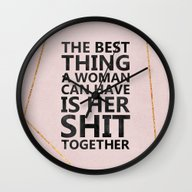 Wall Clock featuring The Best Thing by Elisabeth Fredriksso…
