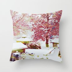 SNOW DAY - 015 Throw Pillow