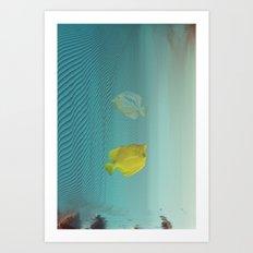 Under da glitch PT.2: A story of loss Art Print