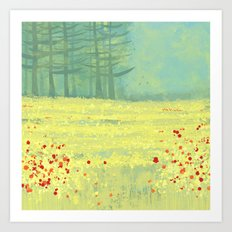 Meadow near Périgueux Art Print