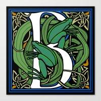 Celt Frog Letter B Canvas Print