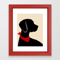 Vizsla Dog Art Framed Art Print
