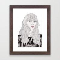 Pastel Girl 1 Framed Art Print