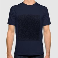 Squigg Block Mens Fitted Tee Navy SMALL