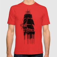 Inked Ship Mens Fitted Tee Red SMALL