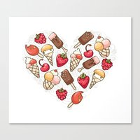 In love with icecream Canvas Print