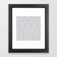 Abstract Lace On Grey Framed Art Print