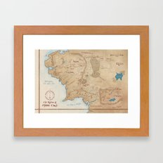 Map Of Middle Earth Framed Art Print
