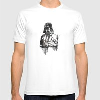 Darth Vader Mens Fitted Tee White SMALL