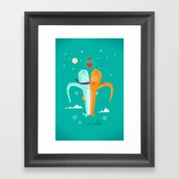 :::Moon Love::: Framed Art Print