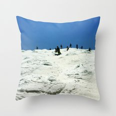 Spring Skiing on Superstar Throw Pillow