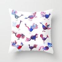 Purple Palette  Throw Pillow