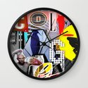 Collage is more than just cutting and sticking. Wall Clock