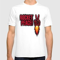 ROCKET PEACE! Mens Fitted Tee White SMALL