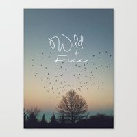 WildandFree Canvas Print