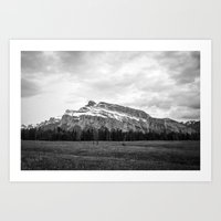Mount Rundle In Banff Al… Art Print