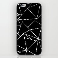 Abstract Dotted Lines White on Black iPhone & iPod Skin