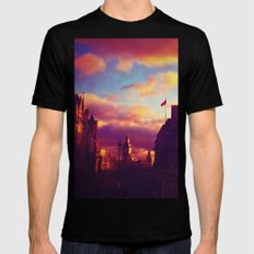 London Sunset Black Mens Fitted Tee SMALL