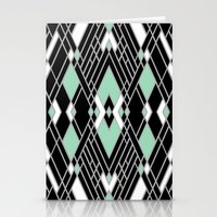 Art Deco Zoom Mint Stationery Cards