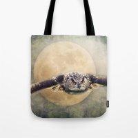Angry Moon Tote Bag