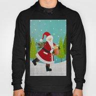 Santa And Presents Hoody
