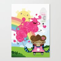 Cotton Candy can save the world!!! Canvas Print
