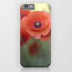 Beautiful poppy in a meadow iPhone 6 Slim Case