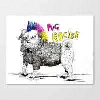 Pug Rocker Canvas Print