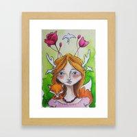The Fox Tale Framed Art Print