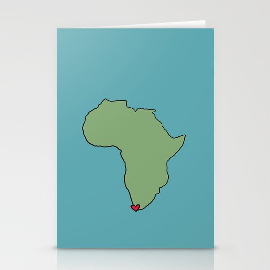 Ali Hearts Cape Town Stationery Card