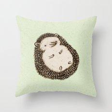 Plump Hedgehog Throw Pillow