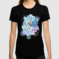 Some People Are Worth Melting For. Womens Fitted Tee Black SMALL