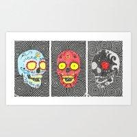 3 Sugar Skulls Art Print