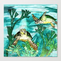 Myrtle Turtle. Canvas Print