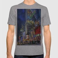 Times Square Mens Fitted Tee Athletic Grey SMALL