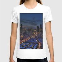 The City Of Big Shoulder… Womens Fitted Tee White SMALL