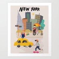 I Love NY Art Print