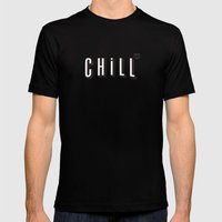 ...and Chill Mens Fitted Tee Black SMALL