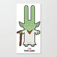 Sr. Trolo / Yoda Canvas Print
